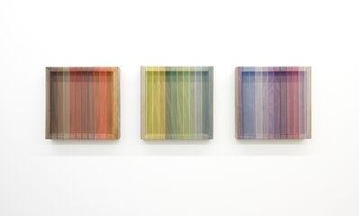 Brian Wills, 'Untitled (spectrum on walnut triptych)', 2018