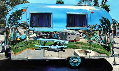 Taralee Guild, 'Angie and Taralee Airstream, Pismo Beach', 2019
