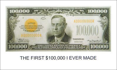 John Baldessari, 'The First $100,000 I Ever Made', 2012