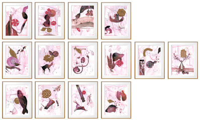 Ritu Sinha, 'Birth Healing - 14 Panel Mixed Painting by Indian Artist of Socio-Political Issues of Women', 2018