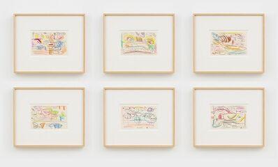 Carroll Dunham, 'Six Drawings', 1987