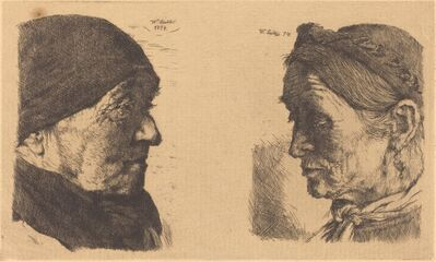 Wilhelm Leibl, 'Old Man and Old Woman', 1874-1880