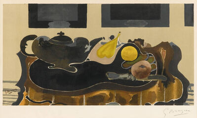 Georges Braque, 'Theiere et Fruits', ca. 1950