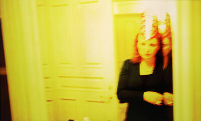 "Nan Goldin, 'Self-portrait in party hat, New Year's Eve, ""Renaissance,"" Malibu', 2005-2006"
