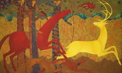 Timur D'Vatz, 'Golden Deer Chase', 2020