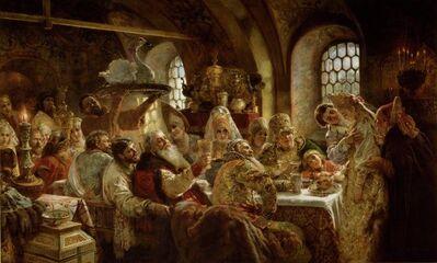 Konstantin Egorovich Makovsky, 'A Boyar Wedding Feast', 1883