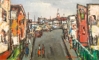 Sol Wilson, 'Street with Sign', n.d.
