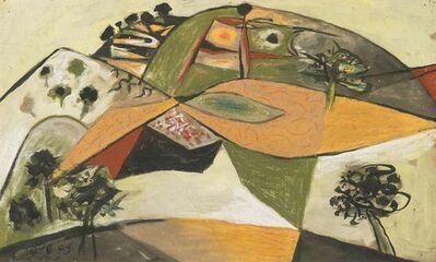 John Craxton, 'Landscape (Spetses, Greece)', 1946