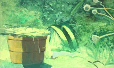 Lois Dodd, 'Bushel Basket + Iris Leaves', 2014