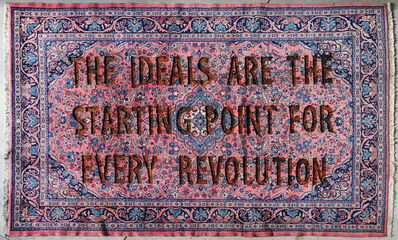 """Loredana Longo, 'Carpet#20 """"The Ideals Are The Starting Point For Every Revolution""""', 2017"""