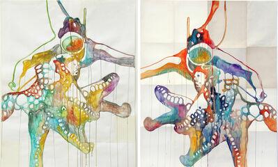 Ulla von Brandenburg, 'Octopus 1 & Octopus 2, Diptych', 2015