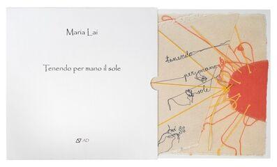 Maria Lai, 'A) Tenendo per mano il sole; B) Curiosape'