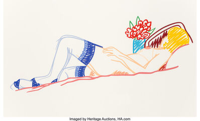 Tom Wesselmann, 'Untitled (Nude with Bouquet and Stockings)', 1991