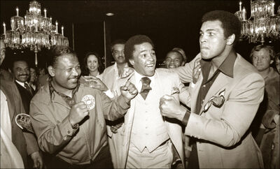 Michael Gaffney, 'Sugar Ray Robinson, Sugary Ray Leonard and The Champ', ca. 1977