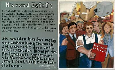 """Jörg Immendorff, '""""Das tun, was zu tun ist""""', 1972"""