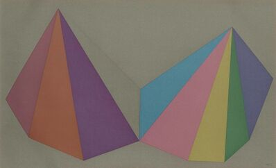 Sol LeWitt, 'Plate 4, from: Two Asymmetrical Pyramids', 1986