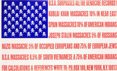 George Maciunas, 'U.S.A. Surpasses All the Genocide Records', ca. 1966