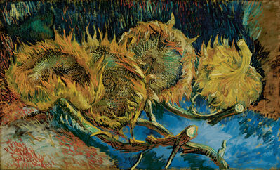 Vincent van Gogh, 'Four sunflowers gone to seed', August -October 1887