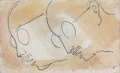 "Badri Narayan, 'Gandhi, Father of the Nation, Drawing on Paper by Padmashree Artist Badri Narayan ""In Stock""', ca. Circa"
