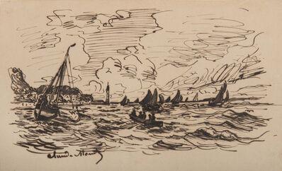Claude Monet, 'Le phare de l'hospice à Honfleur', 1865