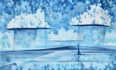 Jono Tew, 'Showers over the Salinas, Salt Cay'