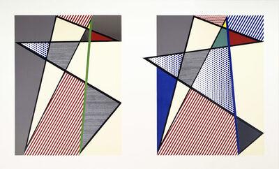 Roy Lichtenstein, 'Imperfect Diptych', 1988
