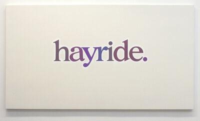 Ricci Albenda, 'hayride', 2005