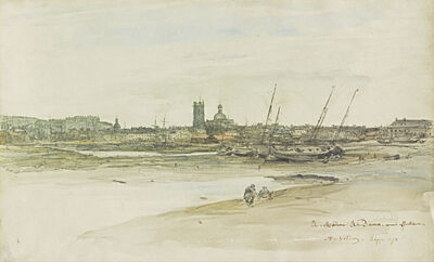 Antoine Vollon, 'View of Dieppe Harbor', 1873
