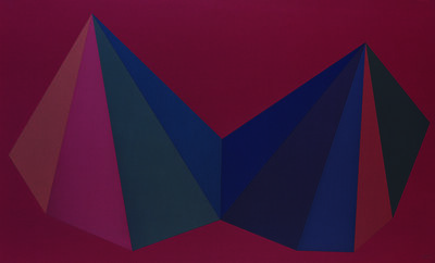 Sol LeWitt, 'Two Asymmetrical Pyramids: Plate 1', 1986