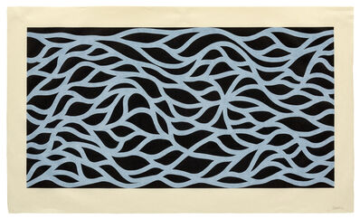 Sol LeWitt, 'Loopy Doopy, White on Black', 1999