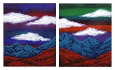 "Leyla Mahat, 'Diptych ""Mountains and Clouds II""', 2013"