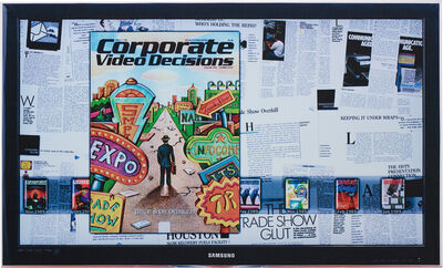 Simon Denny, 'Corporate Video Decisions Double Canvas (Trade Show Overkill)', 2011