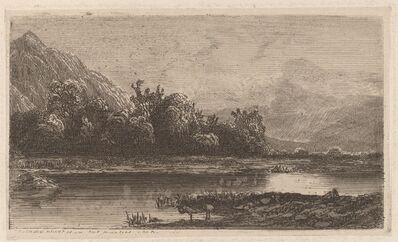 Alexandre Calame, 'Mountain Lake', 1840