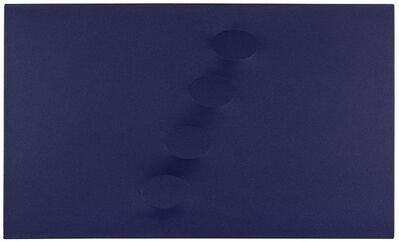 Turi Simeti, '4 ovali blu', 2011