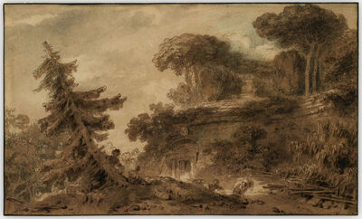 Jean-Honoré Fragonard, 'Lovers in a Park with Antique Ruins', early 1760s
