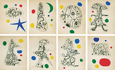 Joan Miró, 'L'Antitête (Tristan Tzara)', 1949