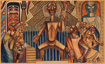 Charles White, 'Untitled (Mural Study)', 1945