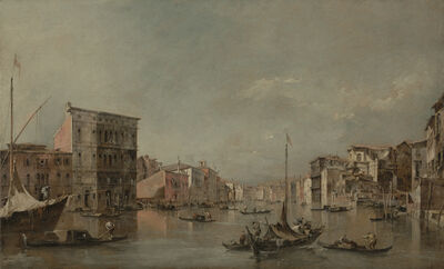 Francesco Guardi, 'The Grand Canal in Venice with Palazzo Bembo', 1768