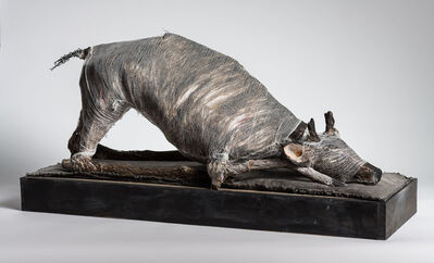 Elizabeth Jordan, 'Animal in play position, sculpture: 'Prepare Thyself to Follow Me'', 2019
