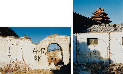 Zhang Dali, 'Demolition and Dialogue, Chaoyangmenwai Avenue, Beijing and Dialogue, Forbidden City, Beijing', 1998
