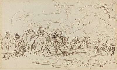 Johann Joseph Zoffany, 'Sandstorm in the Desert Overtaking a Caravan', ca. 1783/1789