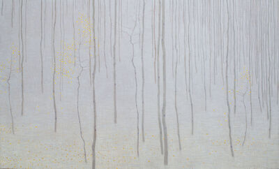 David Grossmann, 'Forest with Early Snow and Fallen Leaves', 2019