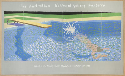 David Hockney, 'The Australian National Gallery 1982 (The Diver, Paper Pool 17) ', 1982