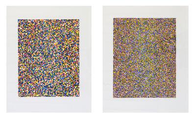 Tauba Auerbach, 'A Half Times A Half Times A Half (Coarse) / A Half Times A Half Times A Half (Fine)', 2008