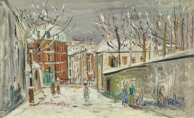 Maurice Utrillo, 'Montmartre, snowy day', ca. 1938