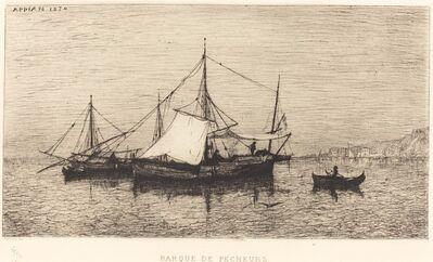 Adolphe Appian, 'Barque de Pecheurs', 1874