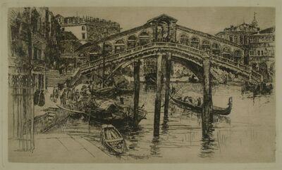 Frank Duveneck, 'Rialto Bridge, Venice', 1883