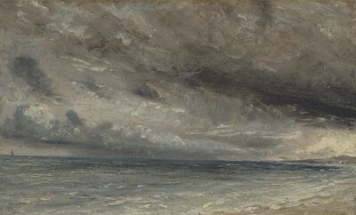 John Constable, 'Stormy Sea, Brighton', ca. 1828