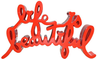 Mr. Brainwash, 'Life Is Beautiful Sculpture (Red)', 2015