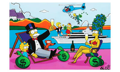 Alec Monopoly, 'The Simpsons on Vacation ', 2019